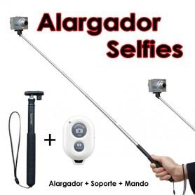 Brazo Alargador Selfies + Soporte + Mando