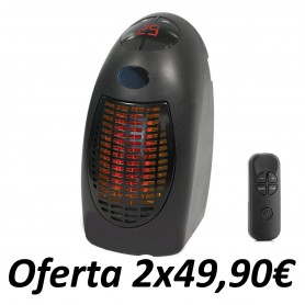 Mini Calefactor Rapid Heater con Mando
