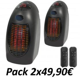 Pack 2 Calefactores Rapid Heater con Mando